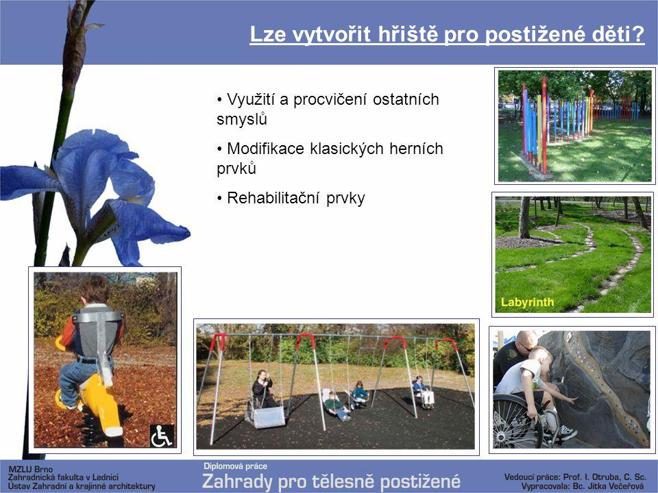 Lze vytvořit hřiště pro postižené děti