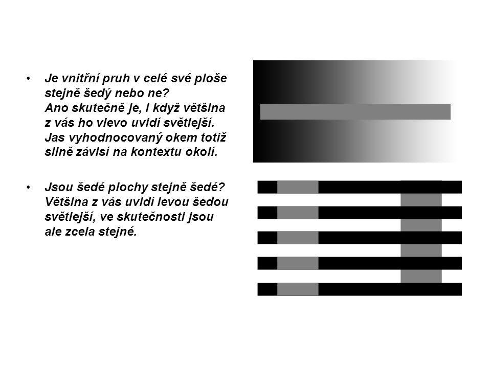 Je vnitřní pruh v celé své ploše stejně šedý nebo ne