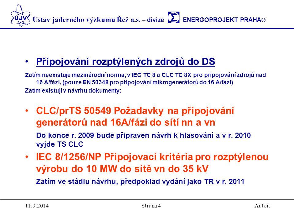 Připojování rozptýlených zdrojů do DS