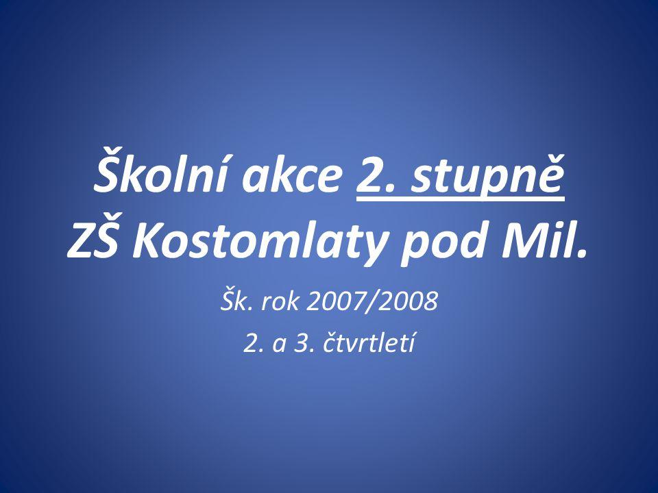 Školní akce 2. stupně ZŠ Kostomlaty pod Mil.