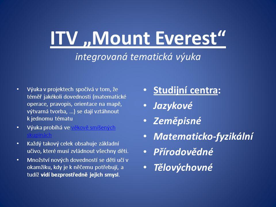 """ITV """"Mount Everest integrovaná tematická výuka"""