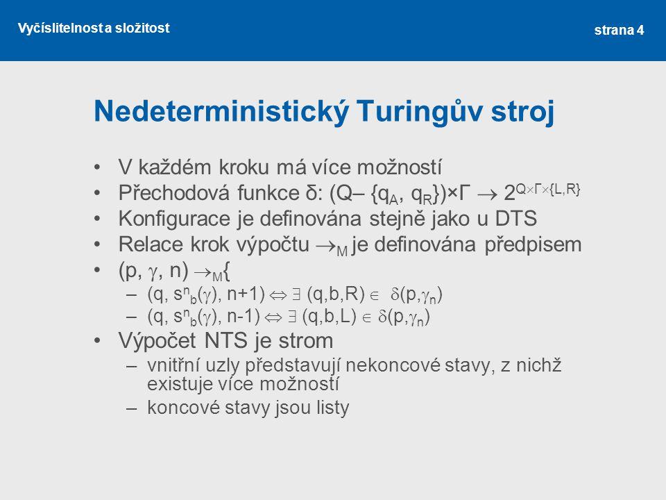Nedeterministický Turingův stroj