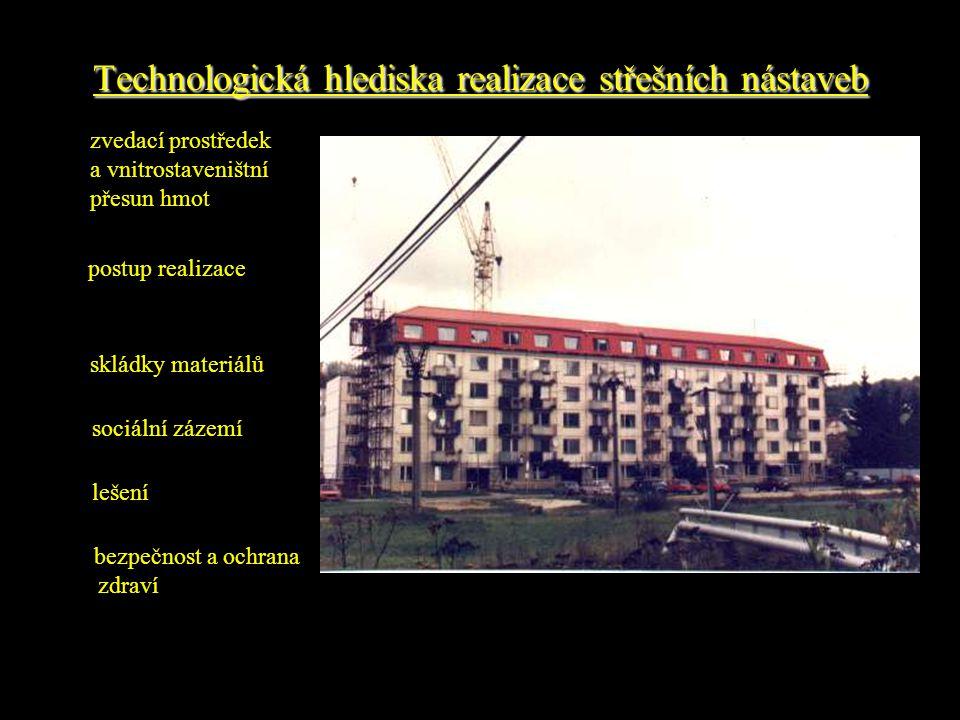 Technologická hlediska realizace střešních nástaveb