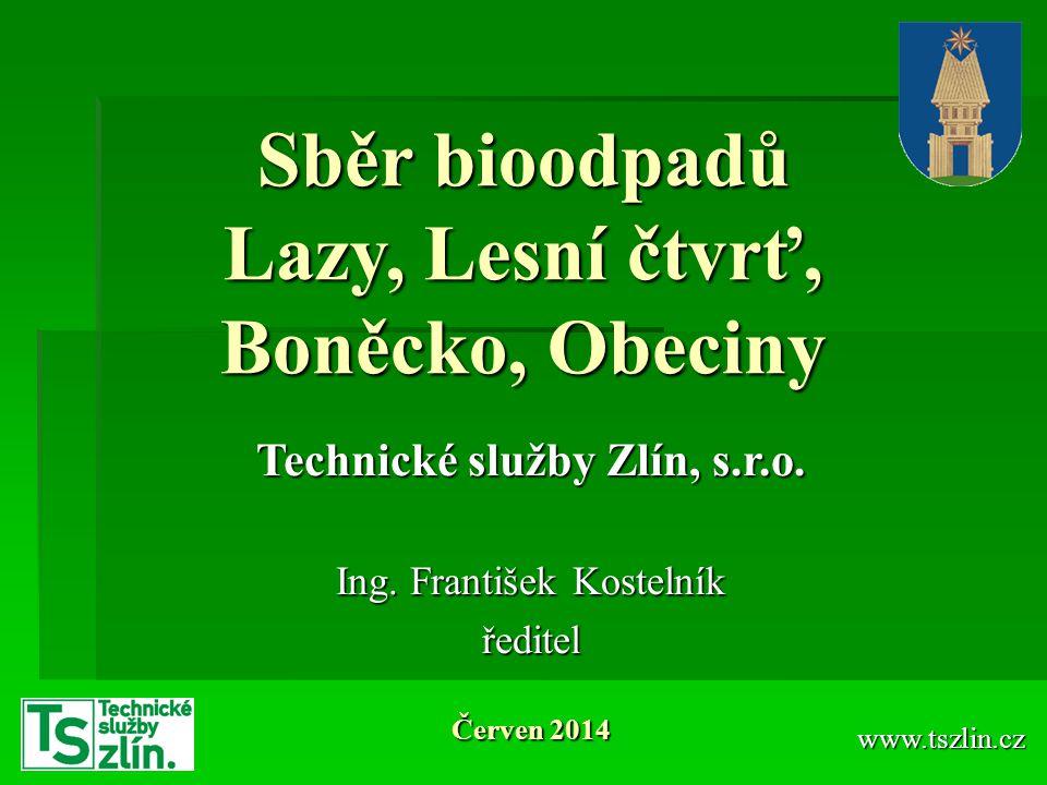 Sběr bioodpadů Lazy, Lesní čtvrť, Boněcko, Obeciny