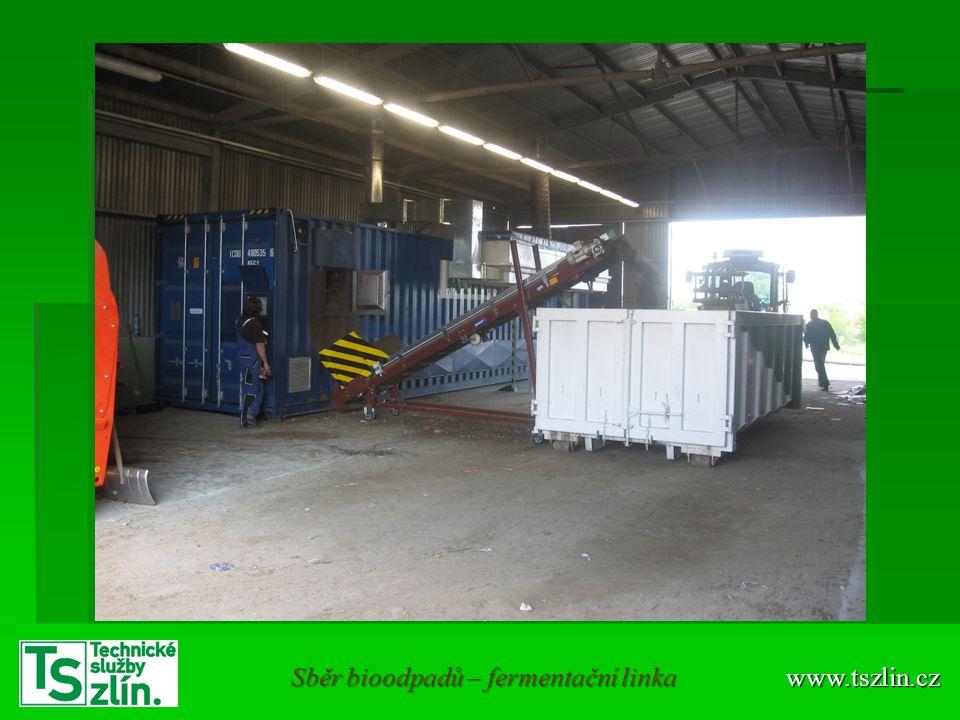 Sběr bioodpadů – fermentační linka