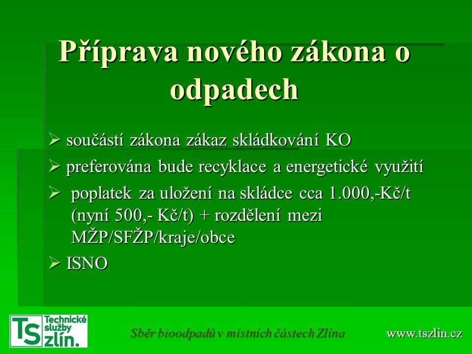 Příprava nového zákona o odpadech