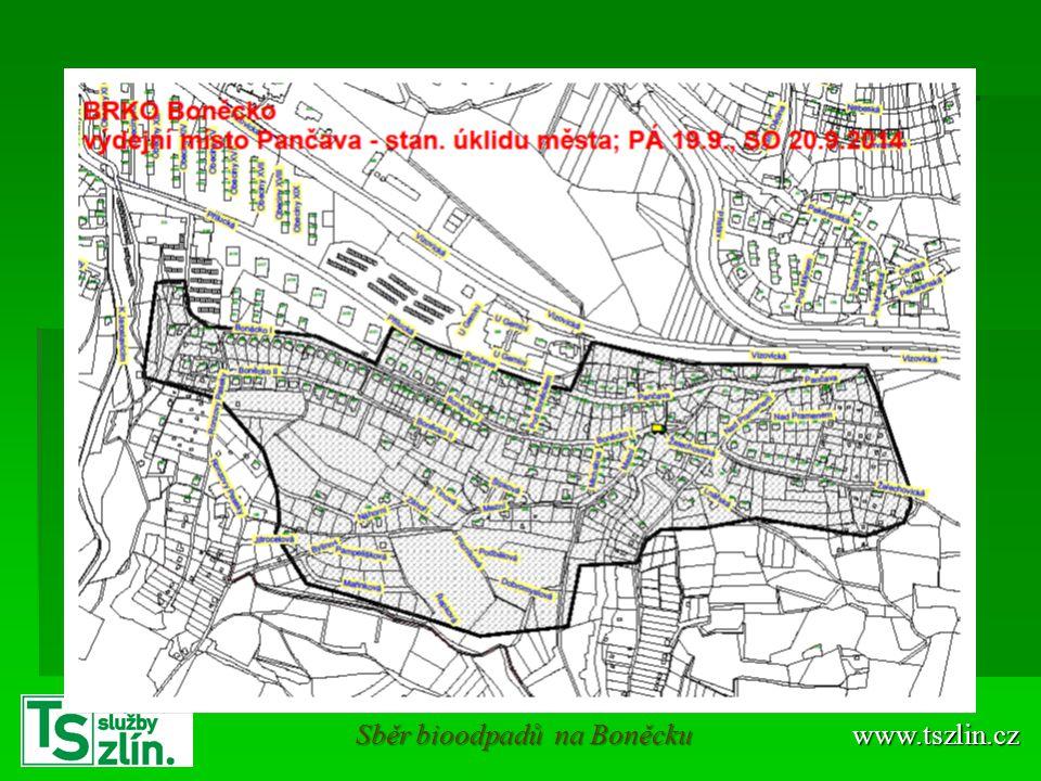 Sběr bioodpadů na Boněcku