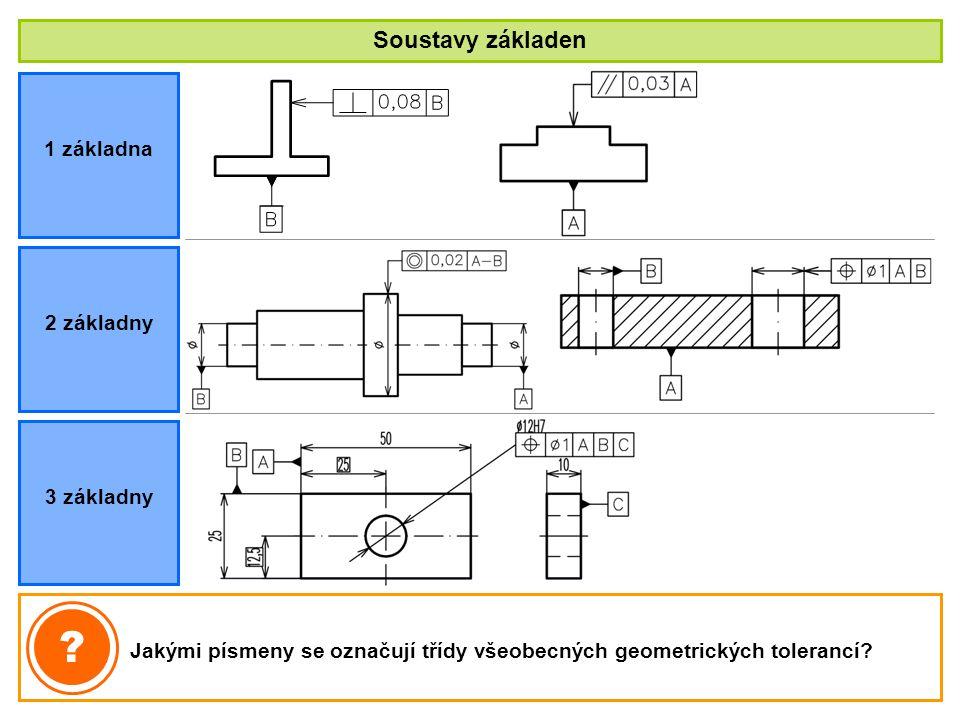 Soustavy základen 1 základna 2 základny 3 základny