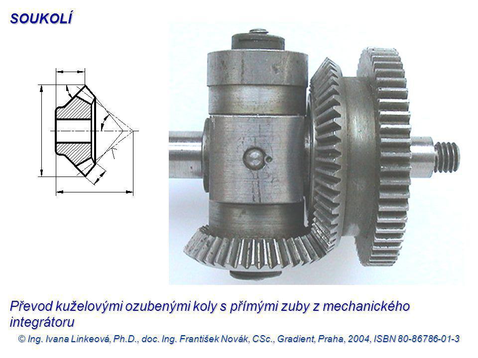 SOUKOLÍ Převod kuželovými ozubenými koly s přímými zuby z mechanického integrátoru.