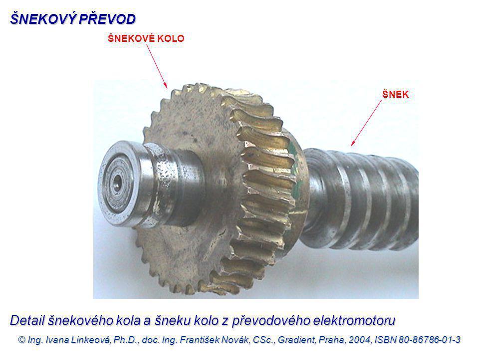 Detail šnekového kola a šneku kolo z převodového elektromotoru