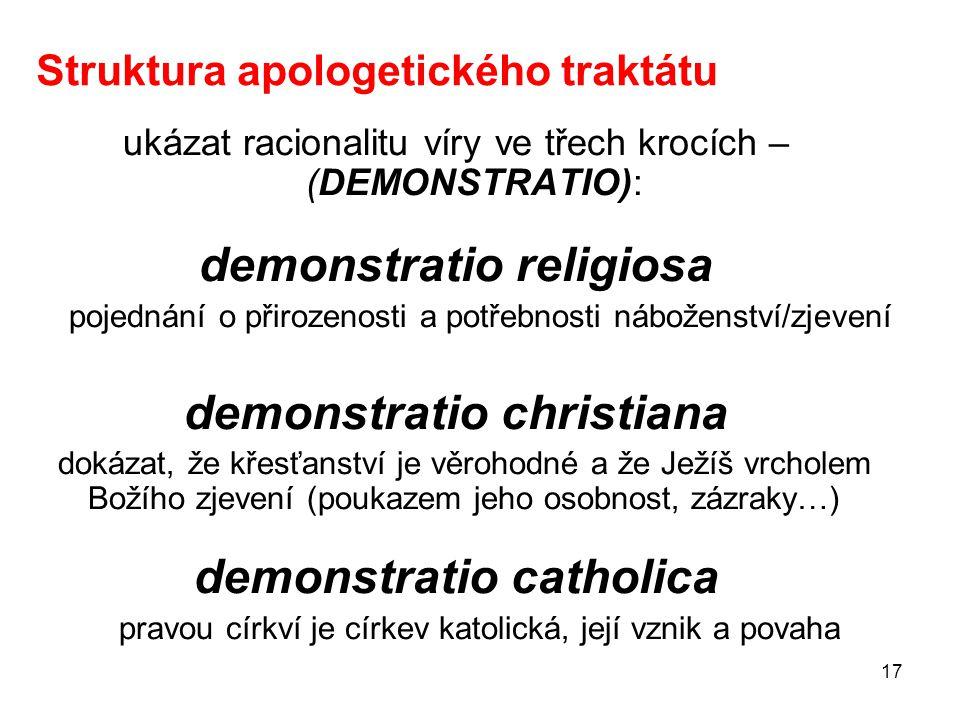 Struktura apologetického traktátu