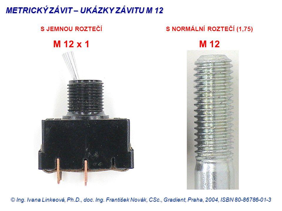 METRICKÝ ZÁVIT – UKÁZKY ZÁVITU M 12