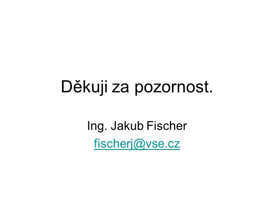 Ing. Jakub Fischer fischerj@vse.cz
