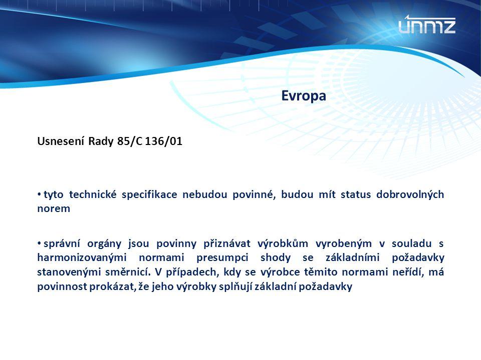 Evropa Usnesení Rady 85/C 136/01