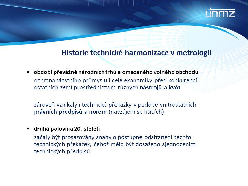 Historie technické harmonizace v metrologii