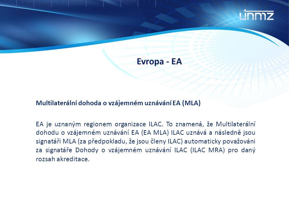 Evropa - EA Multilaterální dohoda o vzájemném uznávání EA (MLA)