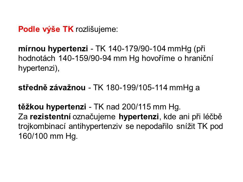 Podle výše TK rozlišujeme: