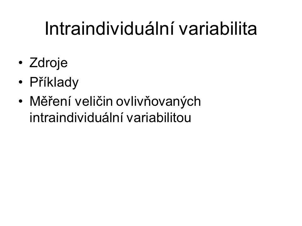 Intraindividuální variabilita