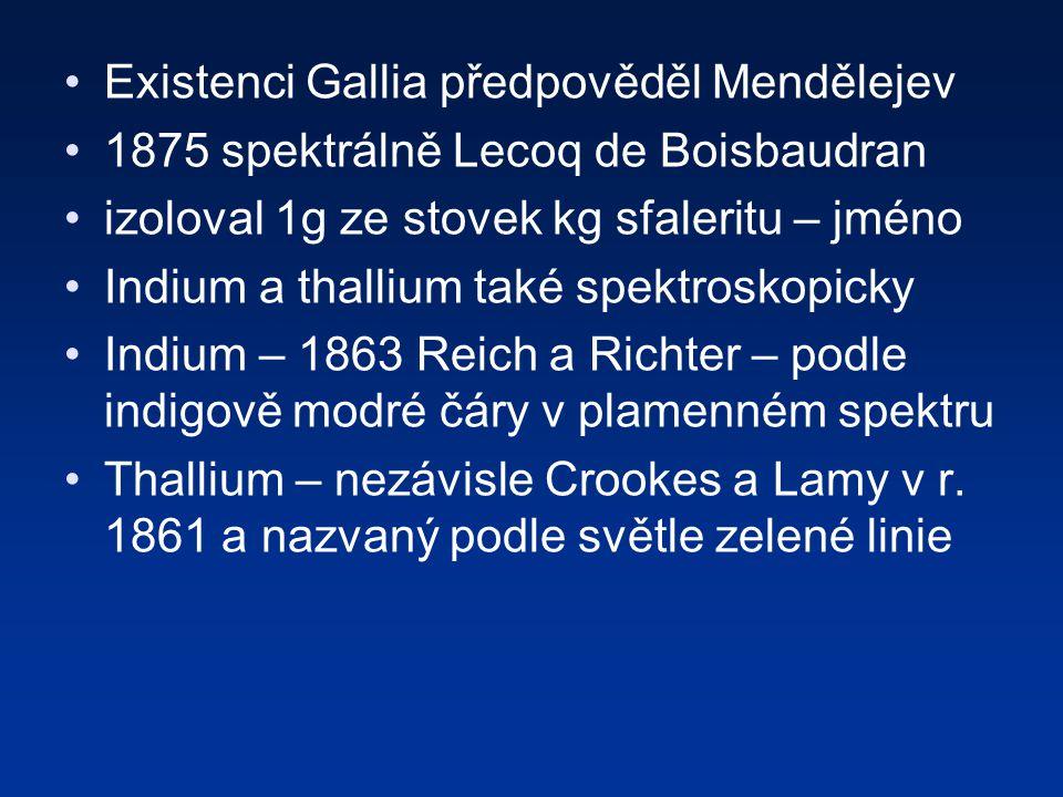 Existenci Gallia předpověděl Mendělejev