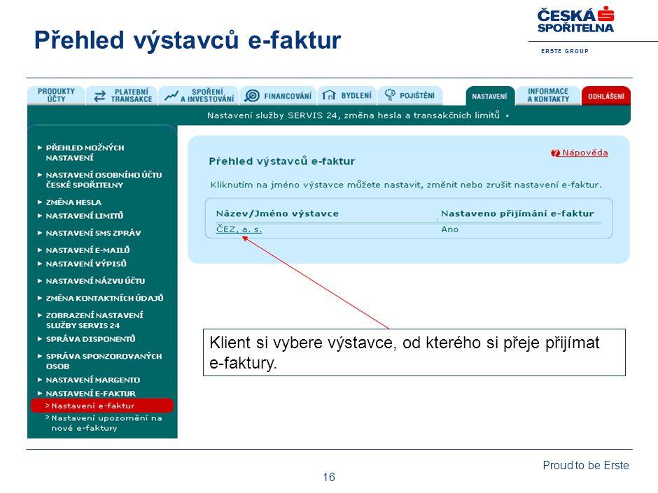 Nastavení služby e-faktury