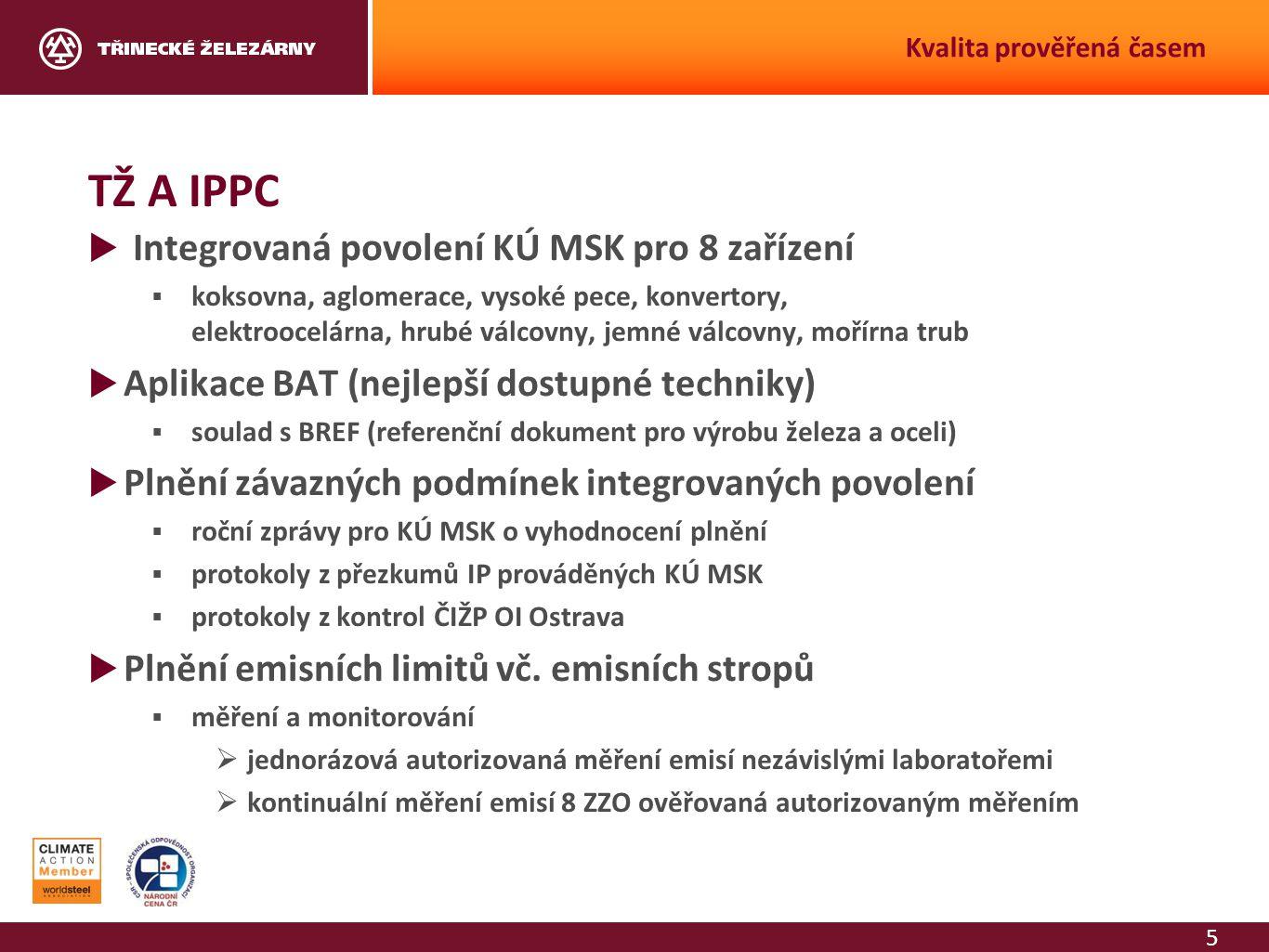 TŽ A IPPC Integrovaná povolení KÚ MSK pro 8 zařízení