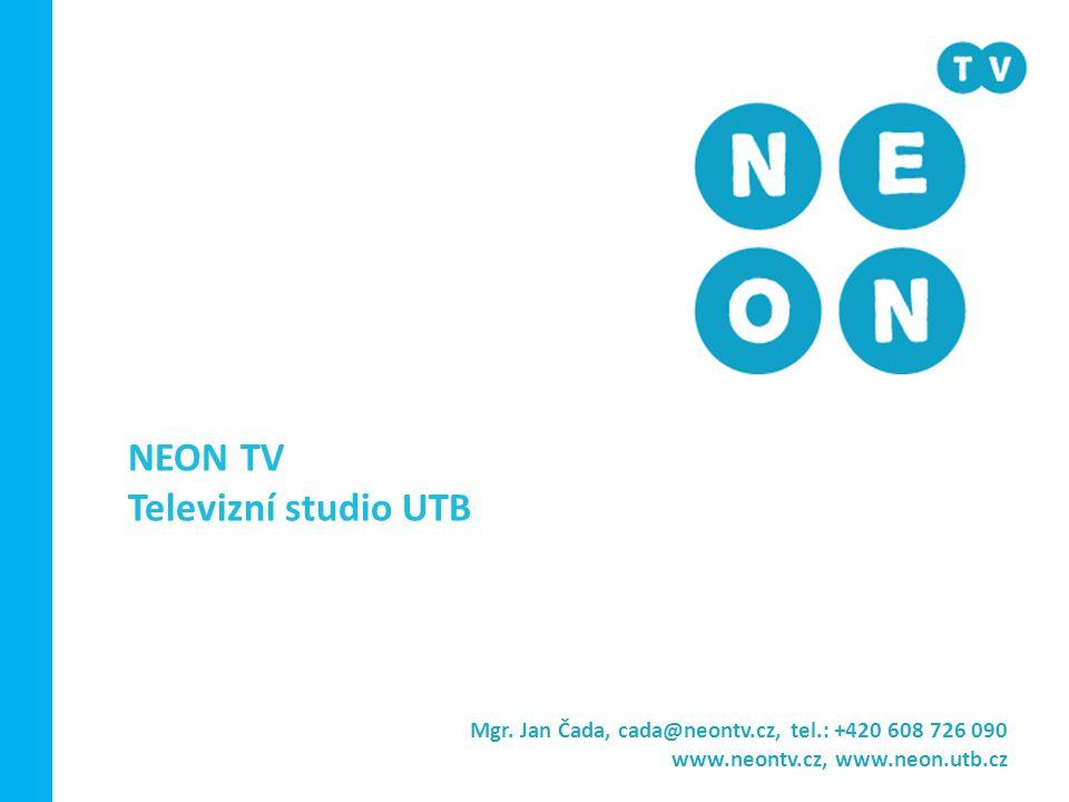 NEON TV Televizní studio UTB