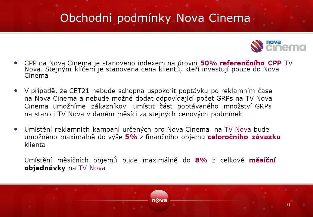 Obchodní podmínky Nova Cinema