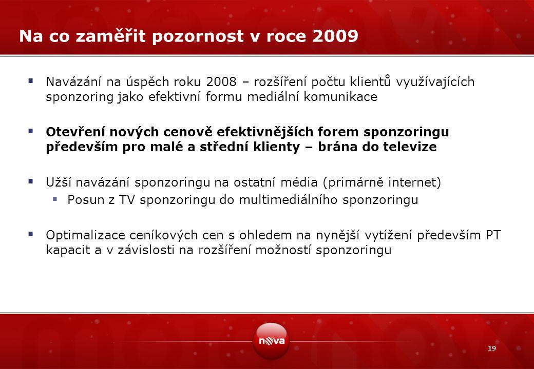 Na co zaměřit pozornost v roce 2009