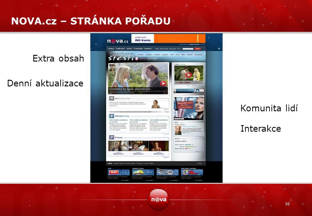 NOVA.cz – STRÁNKA POŘADU