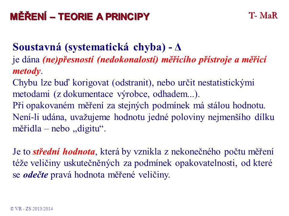 Soustavná (systematická chyba) - Δ