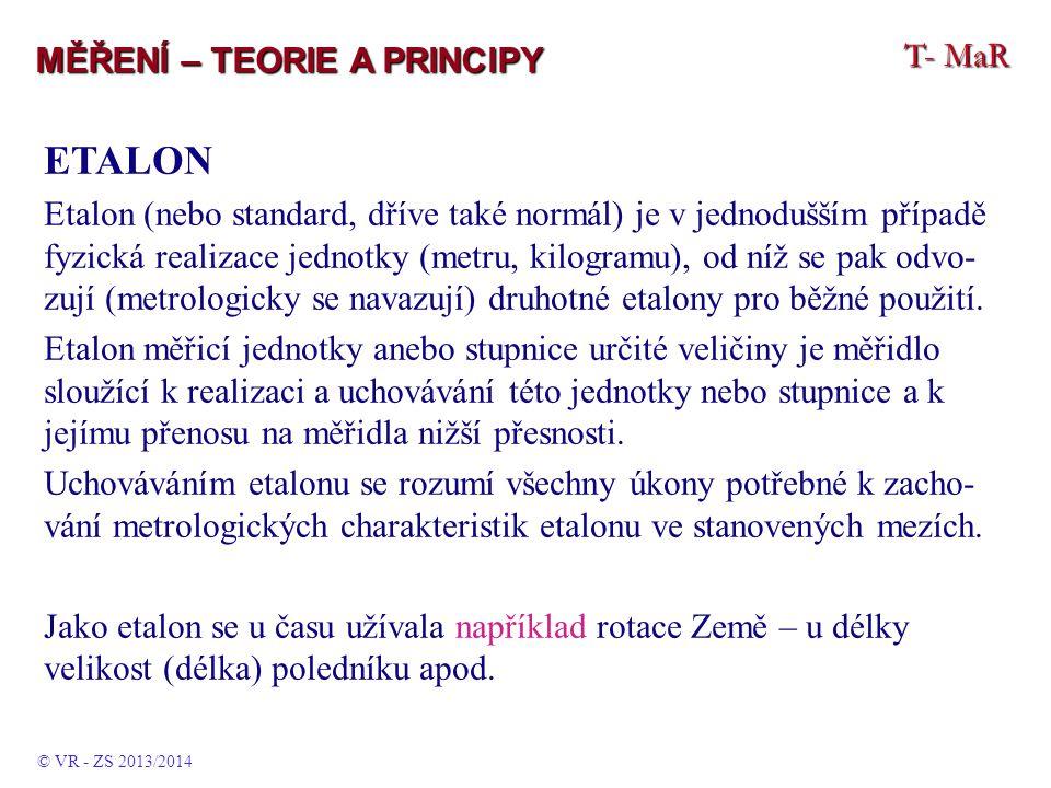 ETALON T- MaR MĚŘENÍ – TEORIE A PRINCIPY