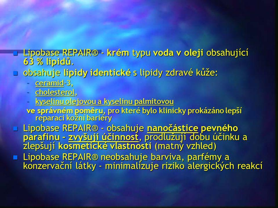 Lipobase REPAIR® - krém typu voda v oleji obsahující 63 % lipidů.