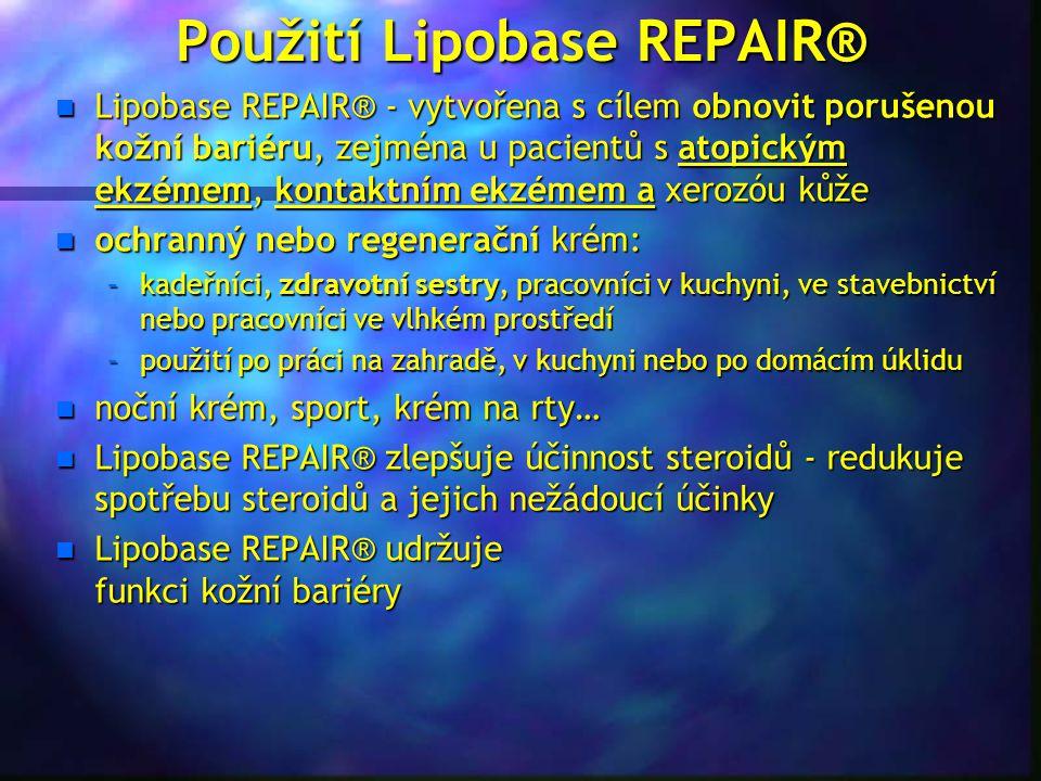 Použití Lipobase REPAIR®