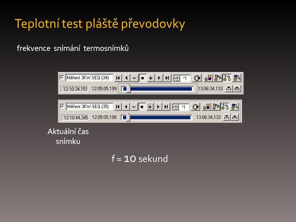Teplotní test pláště převodovky