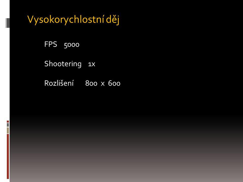 Vysokorychlostní děj FPS 5000 Shootering 1x Rozlišení 800 x 600