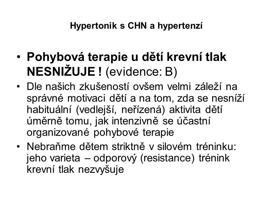 Hypertonik s CHN a hypertenzí