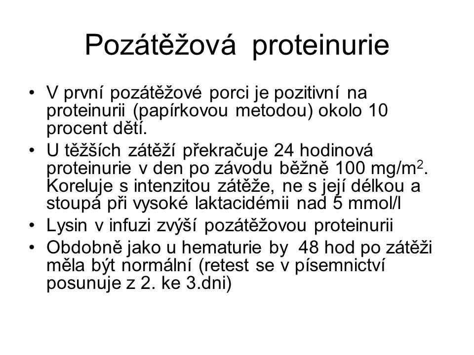 Pozátěžová proteinurie