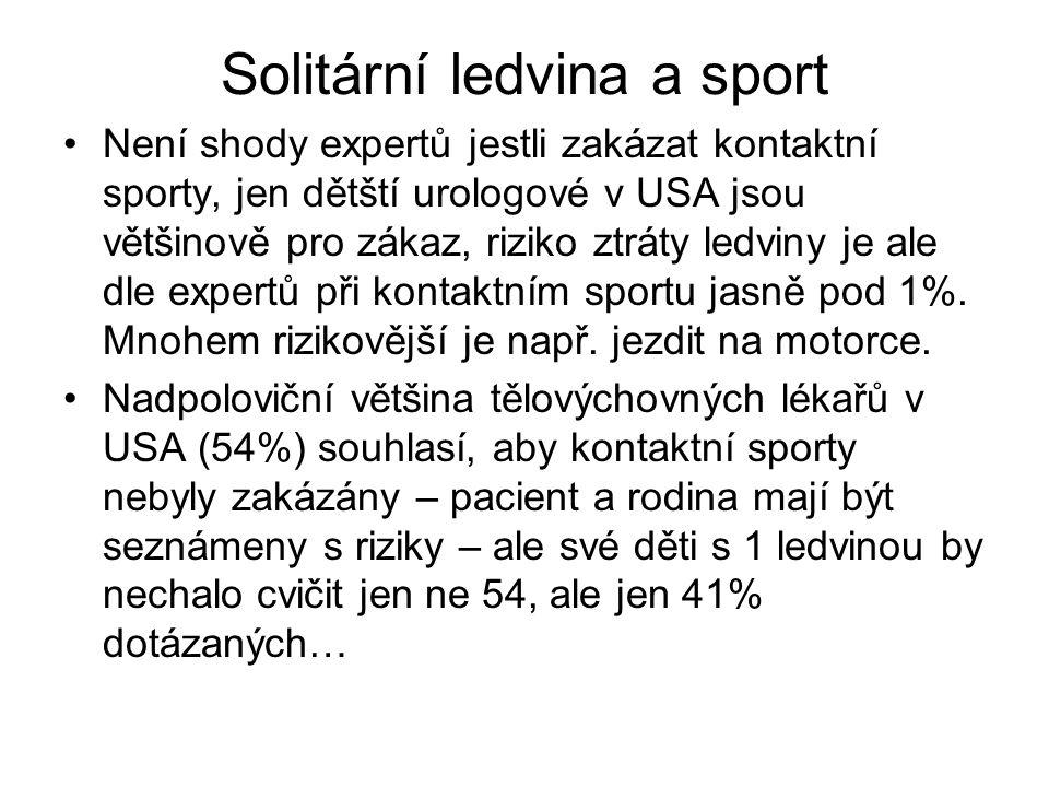 Solitární ledvina a sport