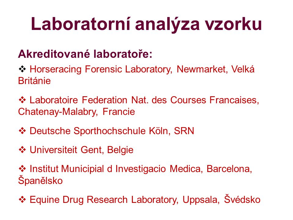 Laboratorní analýza vzorku