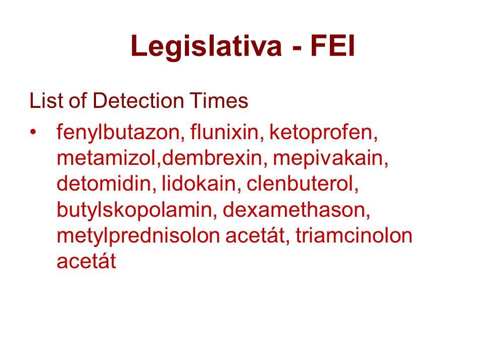 Legislativa - FEI List of Detection Times