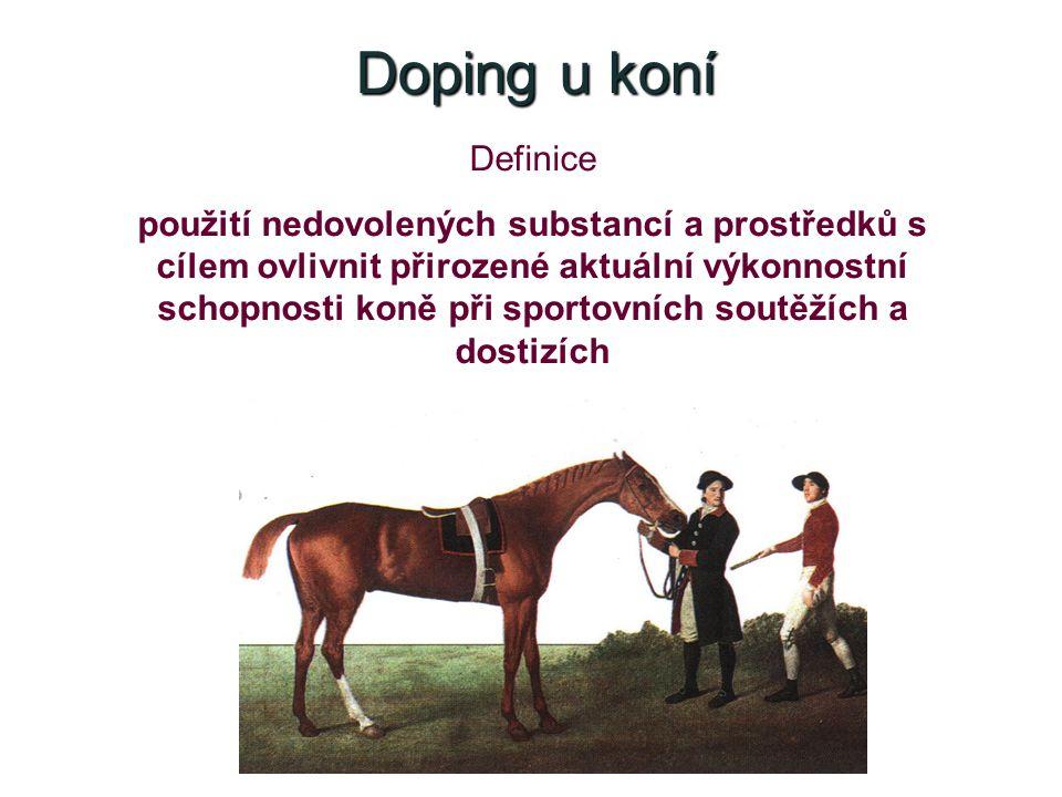 Doping u koní Definice.