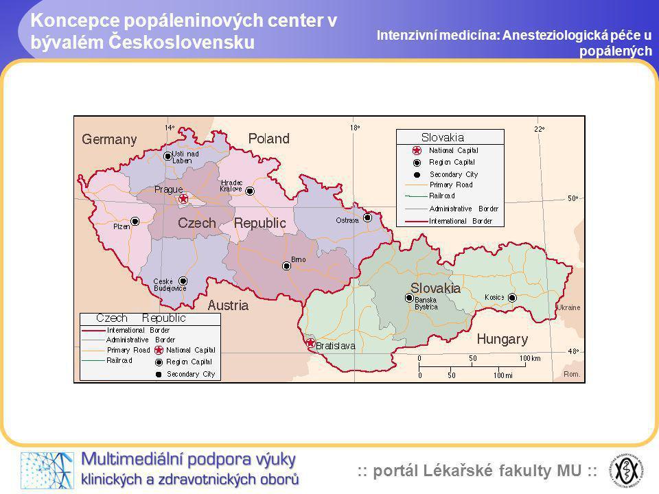 Koncepce popáleninových center v bývalém Československu