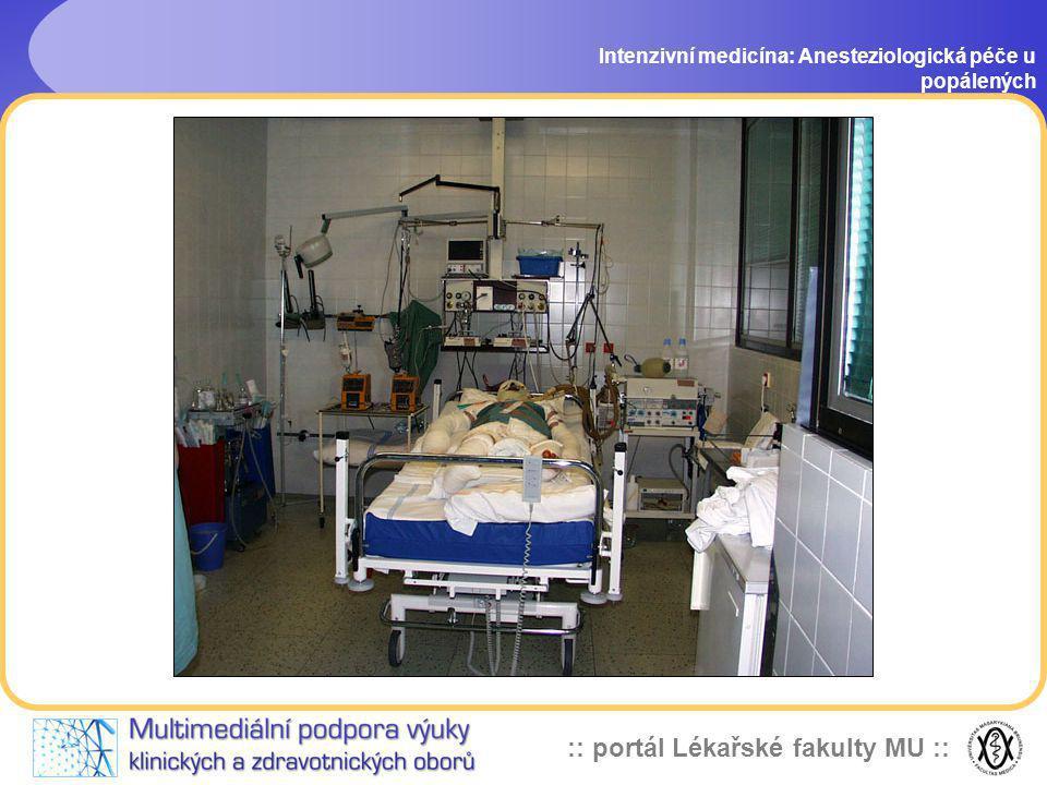 Intenzivní medicína: Anesteziologická péče u popálených