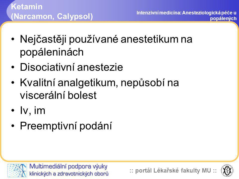 Ketamin (Narcamon, Calypsol)