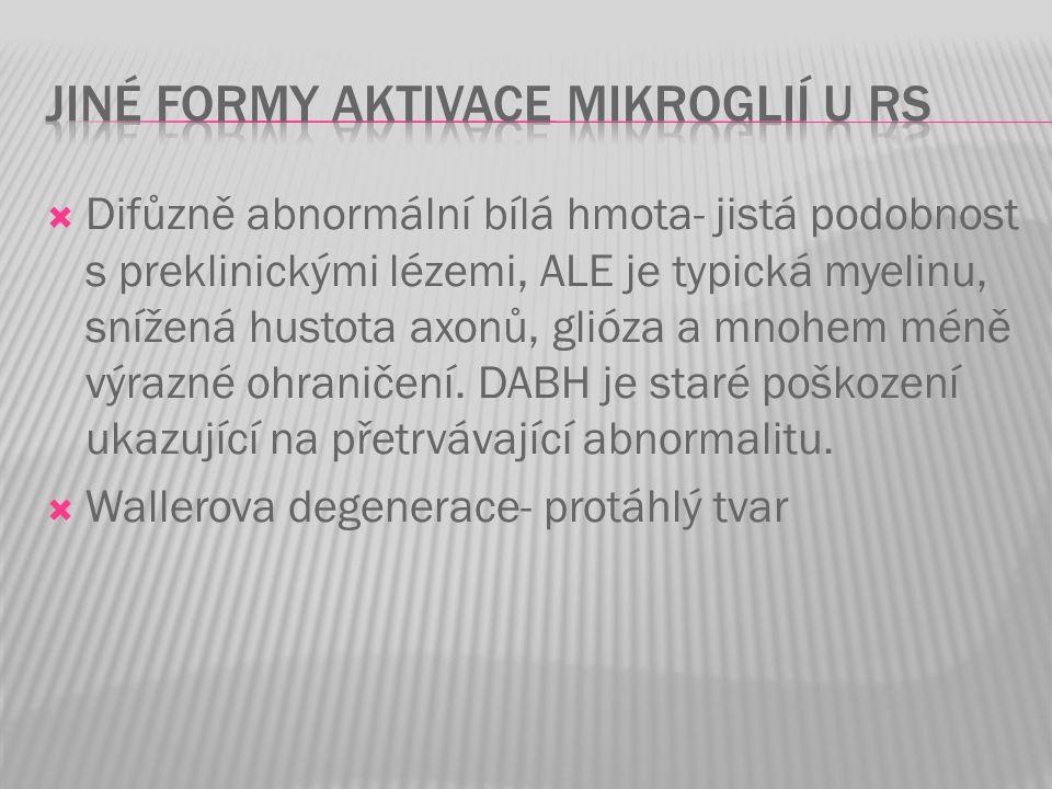 Jiné formy aktivace mikroglií u RS