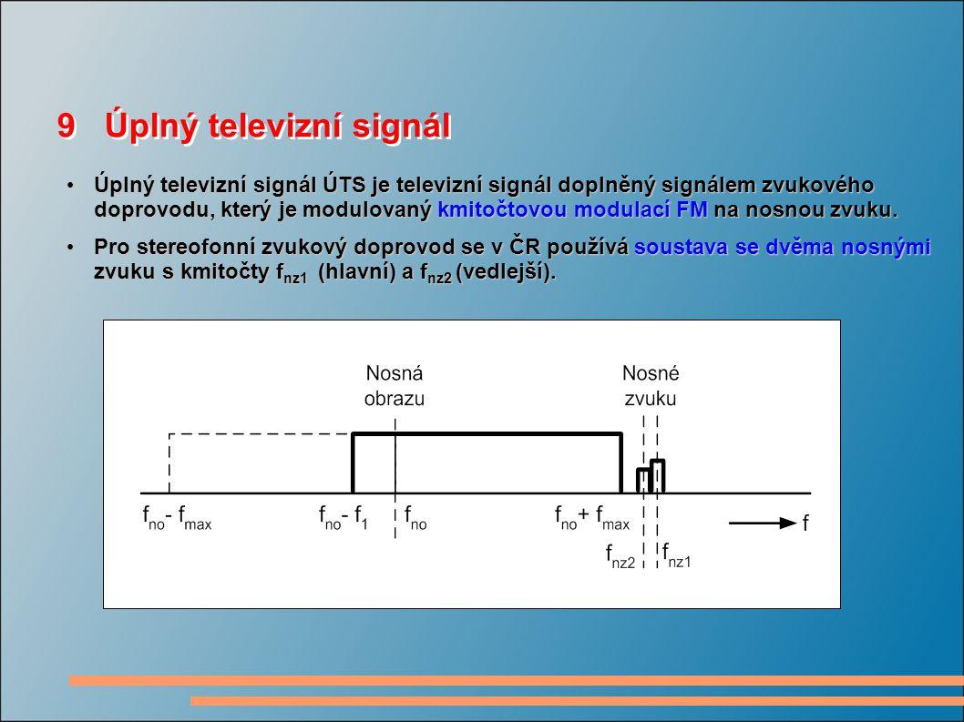 9 Úplný televizní signál