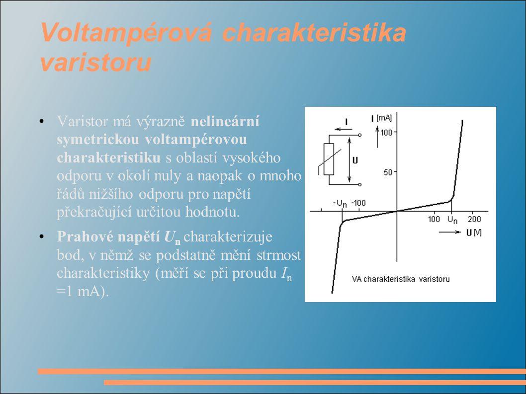 Voltampérová charakteristika varistoru
