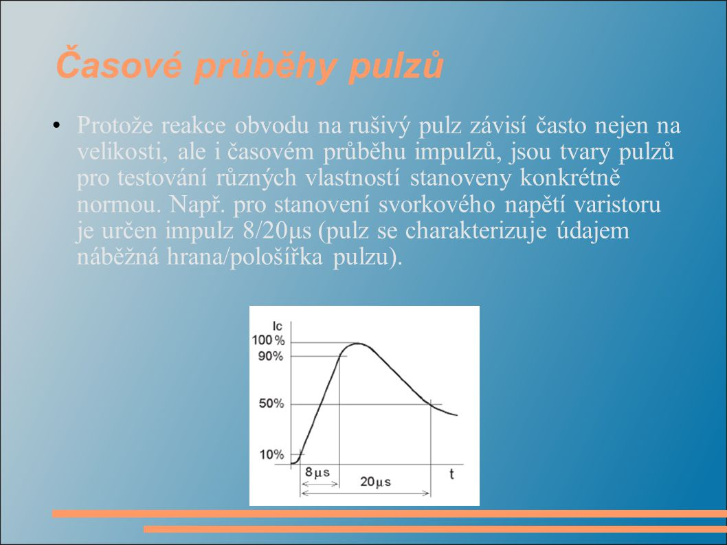 Časové průběhy pulzů