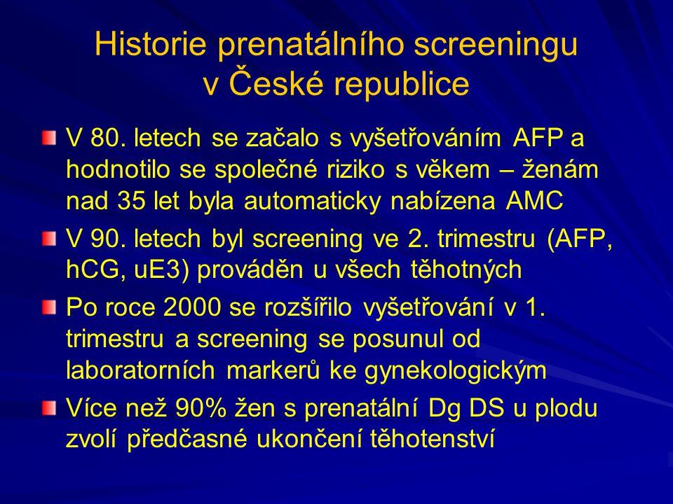 Historie prenatálního screeningu v České republice