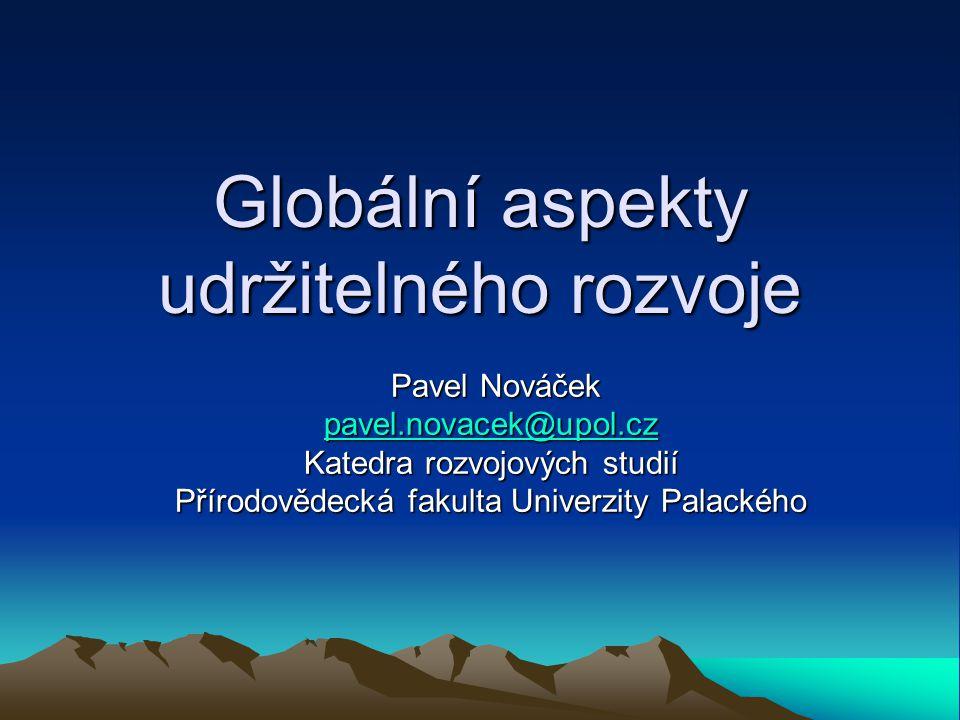 Globální aspekty udržitelného rozvoje